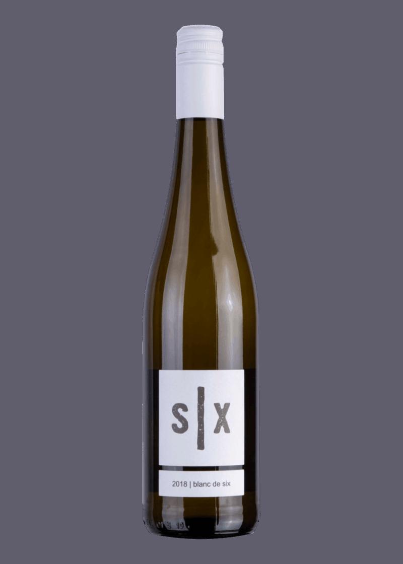 Weinflasche Blanc de Six von Oliver Six