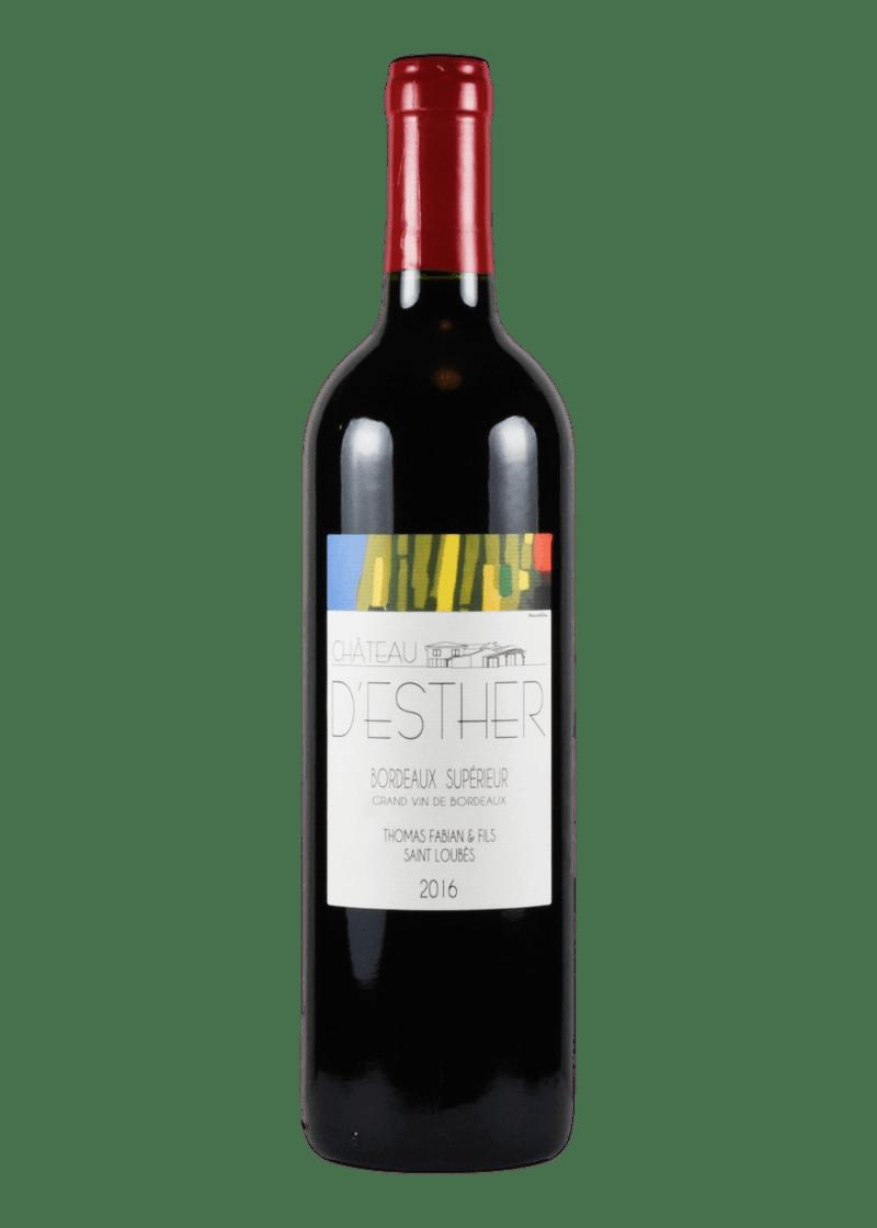 Weinflasche Bordeaux Supérieur von Chateau D'Esther