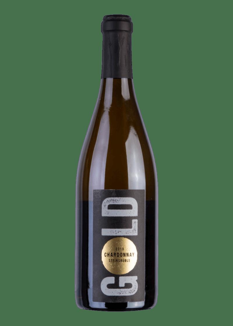 Weinflasche Chardonnay Steingrüble von Leon Gold