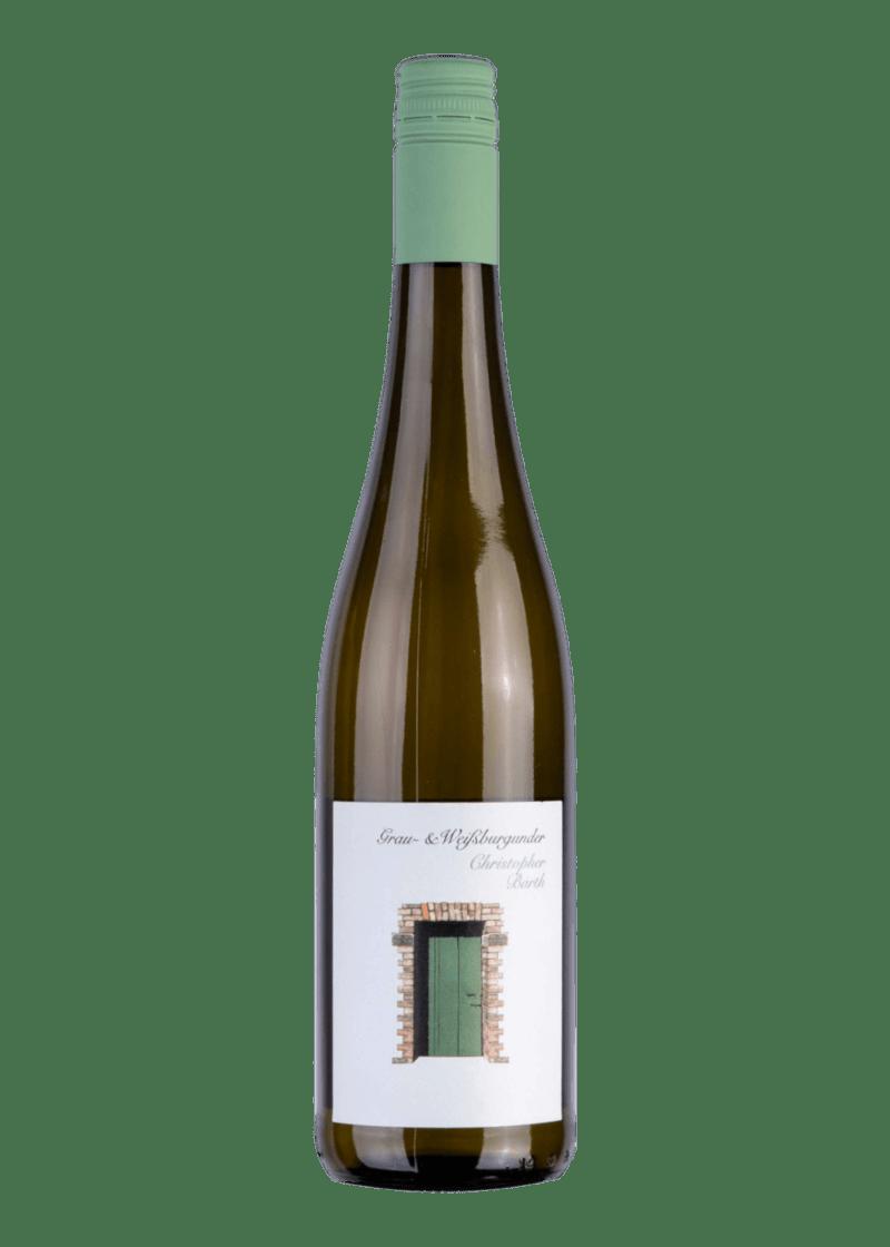 Weinflasche Grau- & Weißburgunder von Christopher Barth