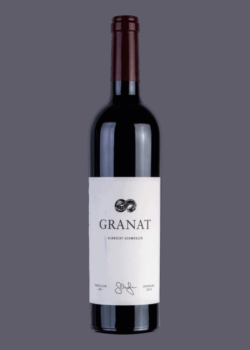 Weinflasche Granat von Albrecht Schwegler