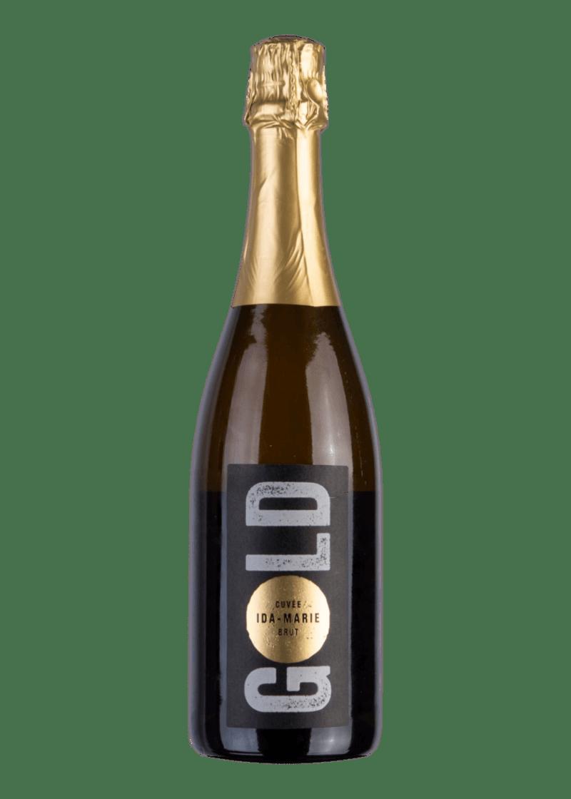 Weinflasche Sekt Cuvée Ida-Marie Blanc de Noir Brut Gold Edition von Leon Gold