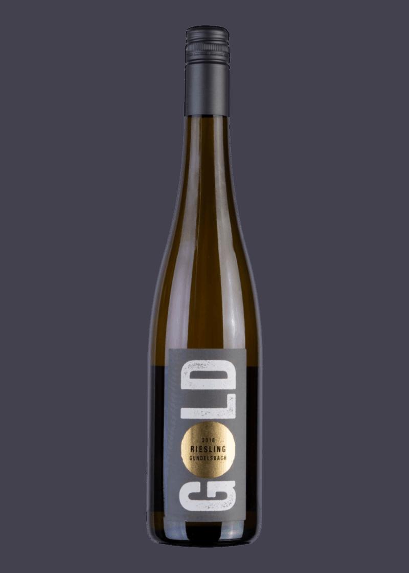 Weinflasche Riesling Gundelsbach von Leon Gold