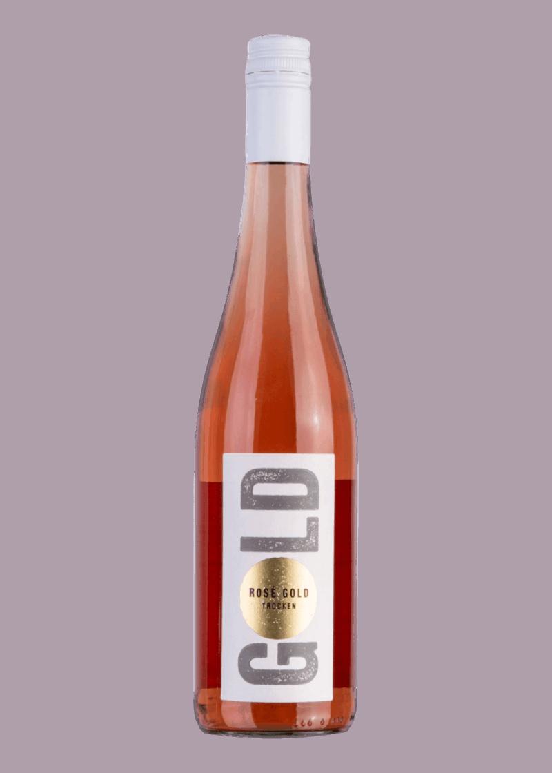 Weinflasche Rosé Gold von Leon Gold