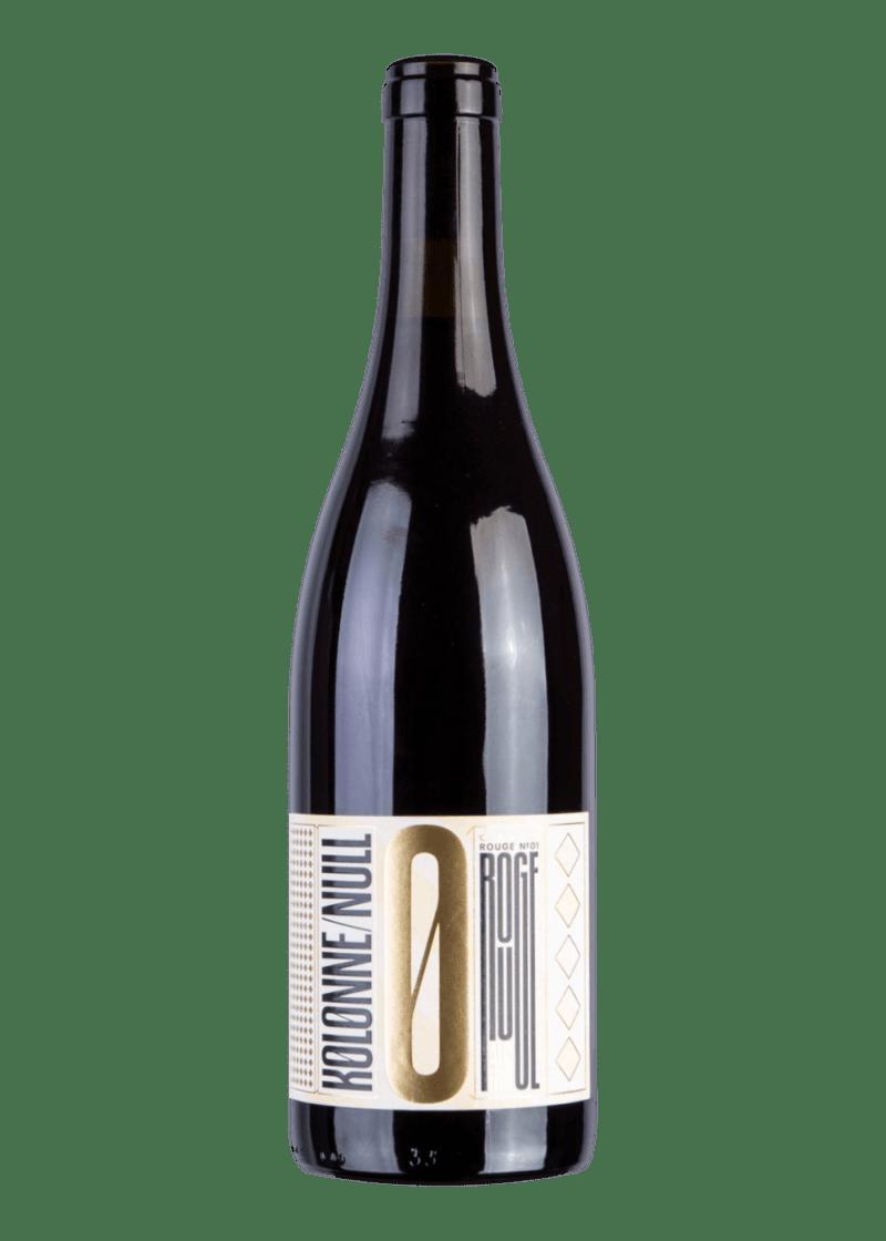 Weinflasche Cuvée Rouge No 01 (alkoholfrei) von Kolonne Null
