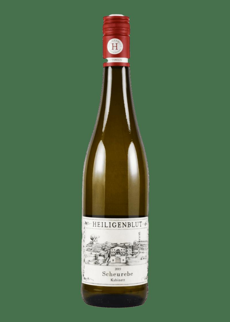 Weinflasche Scheurebe Kabinett von Weingut Heiligenblut