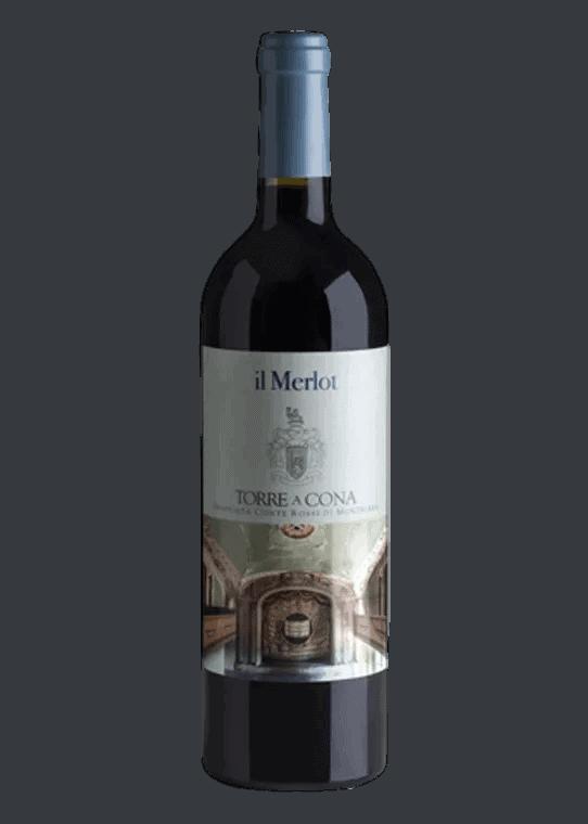 Weinflasche Il Merlot von Torre a Cona