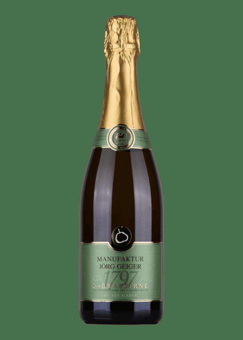 Weinflasche Birnenschaumwein 0% - Manufaktur Jörg Geiger von Manufaktur Jörg Geiger
