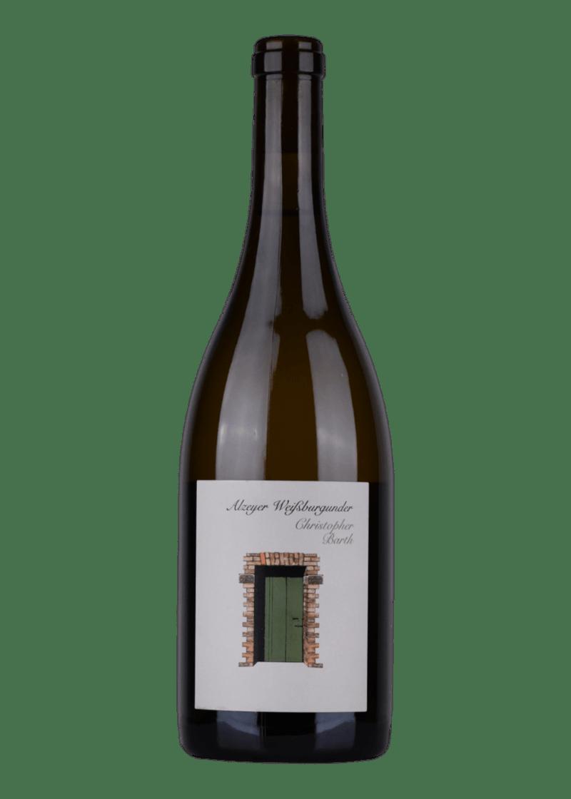 Weinflasche Alzeyer Weißburgunder von Christopher Barth