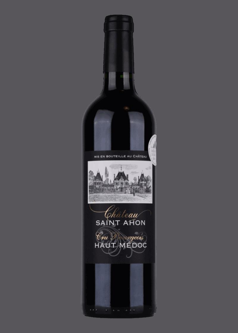 Weinflasche Cru Bourgeois AOC Editon Noir von Château Saint Ahon