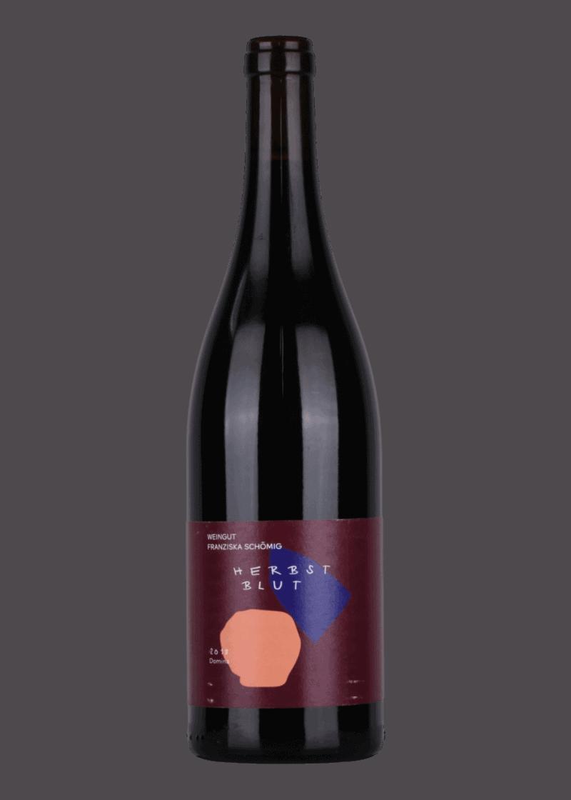 Weinflasche Herzblut Domina von Franziska Schömig
