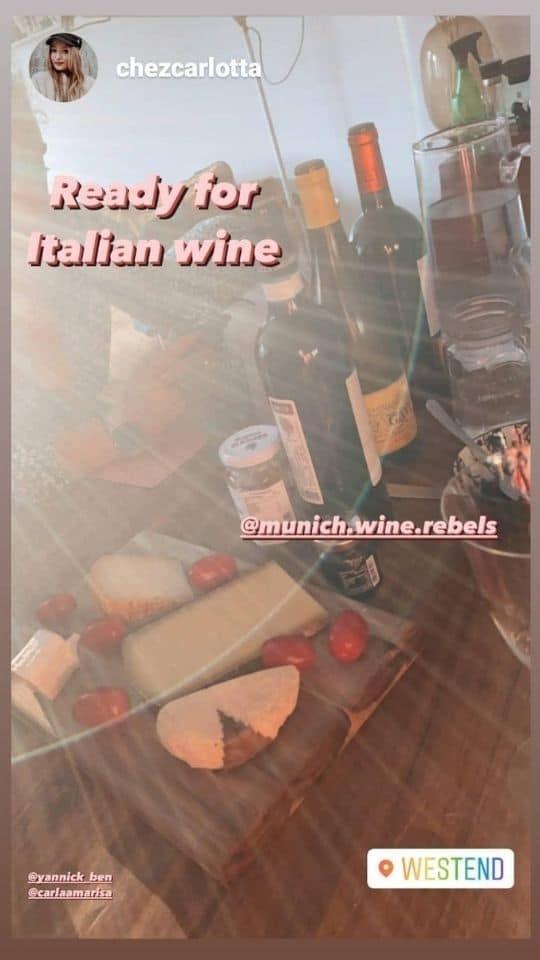 Instragram Weinprobe der Munich Wine Rebels B